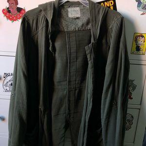 Olive hoodie jacket